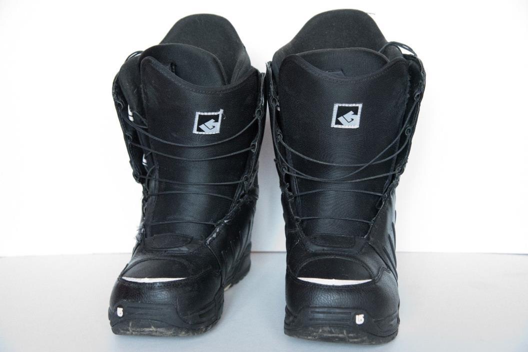 Burton Moto Imprint 1 Black Snowboard Boots Men's Size 9.5 Great Condition