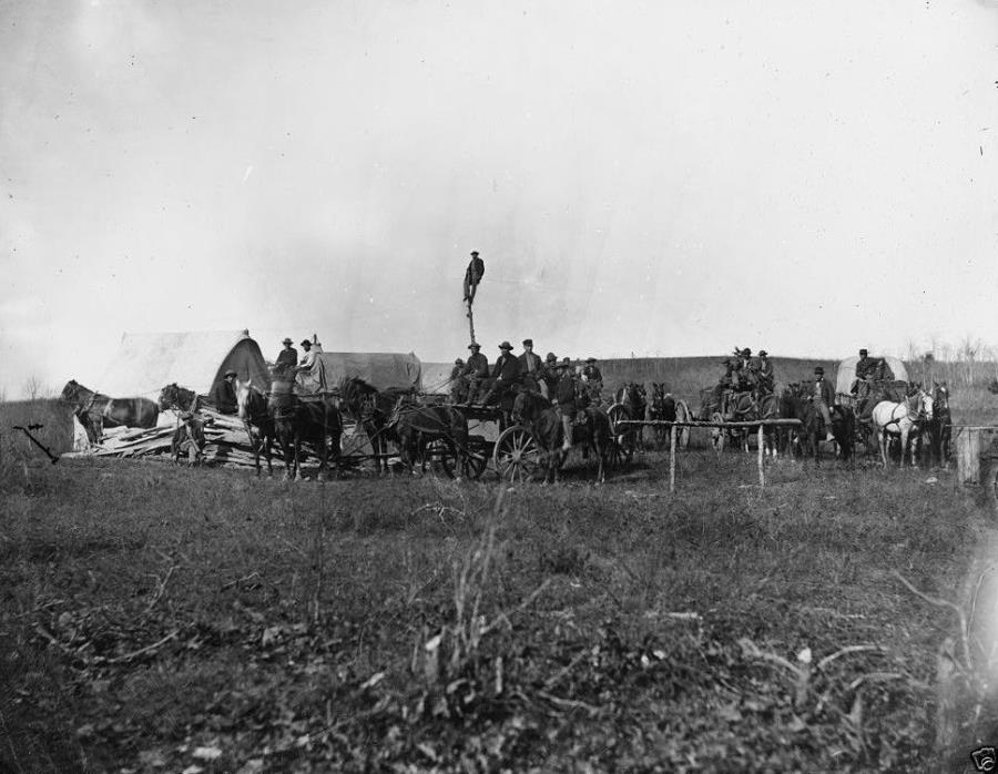 US Telegraph Construction Corps Brandy Station, VA - 8x10 US Civil War Photo
