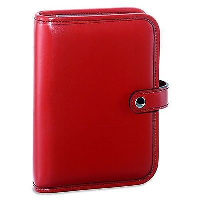 Jack Georges Milano Collection 6-ring organizer with snap closure Red 3047 RED