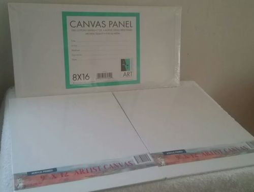 Artist Canvas Lot 8x16 & 9x12 (New)