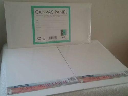 Artist Canvas Lot 8x16 & 9x12 (New)