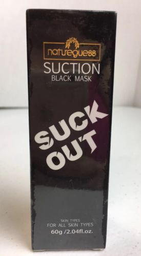 Natureguess Suction Black Mask Suck Out All Skin Types blackhead remover NIB