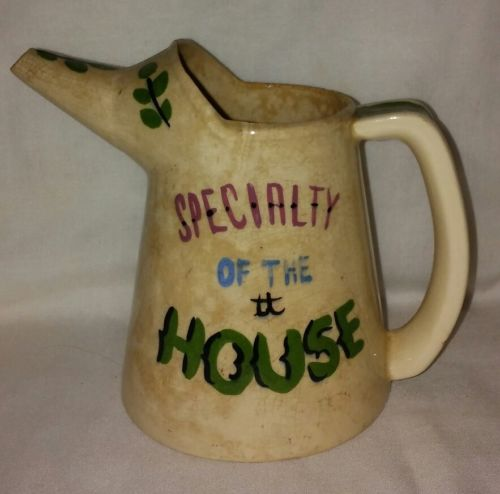 Vintage Ceramic Oil Can Cream Pitcher