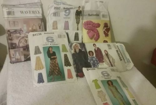 vintage butterick patterns lot of 6 pre owned.