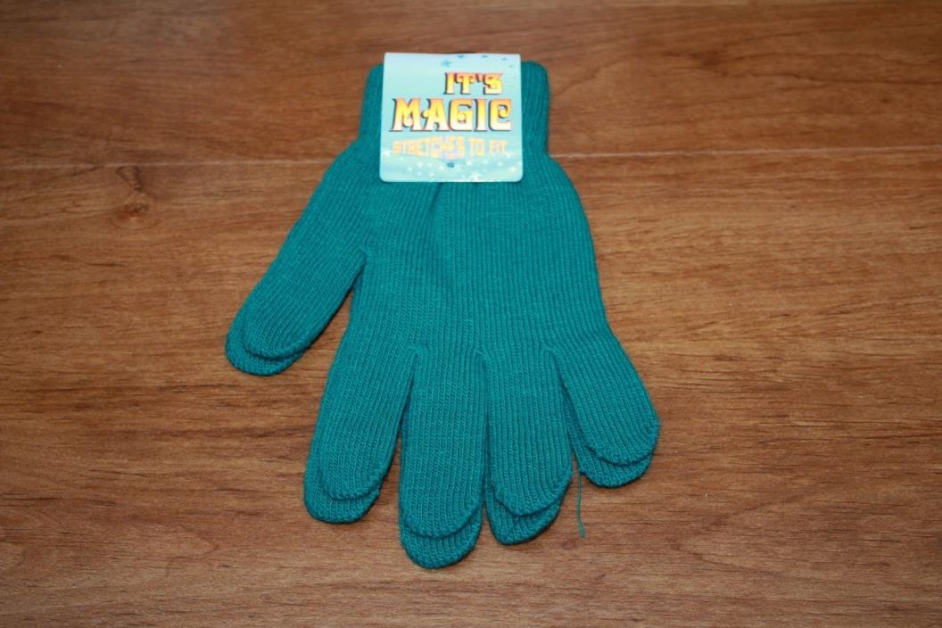 It's Magic Gloves Stretches To Fit Unisex Green One Size Fits Most