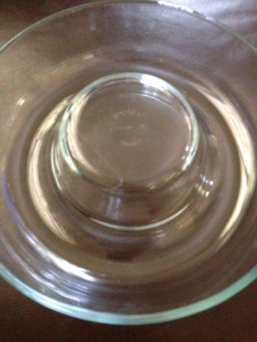 Vintage Pyrex France Round Corning Bundt Cake Jello Mold Clear Glass Baking Dish