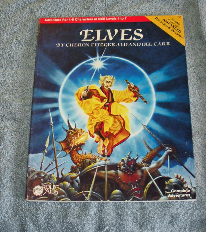 Mayfair Games Role Aids ELVES 1983 for use with Advance Dungeons & Dragons