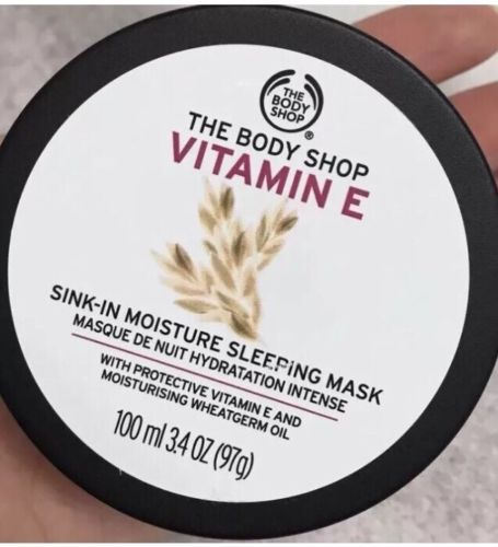Vitamin E Sink In Moisture Sleeping Mask 100% Vegan PM Face 3.4 Ounce