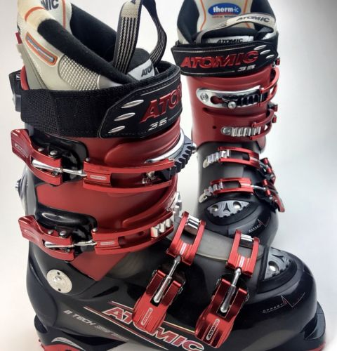 Atomic B Tech Series 80 Ski Boots Size 25.5/26  Red and Black Therm-ic inner