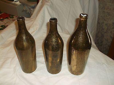 RARE 1900's McCormick set of 3 gold vein bottles  not for sale on bottom ?????/