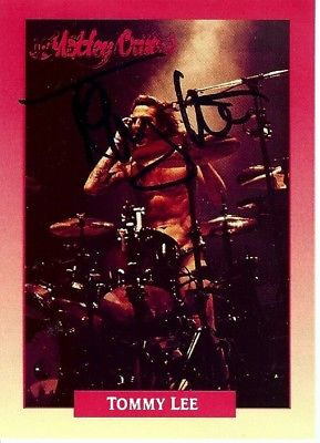 Tommy Lee Signed Autographed 1991 Motley Crue Trading Card Drummer GX19683