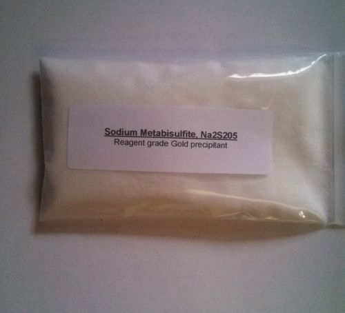 Sodium Metabisulfite, SMB Gold Precipitant! 99% Purity, granular powder. Na2S2O5