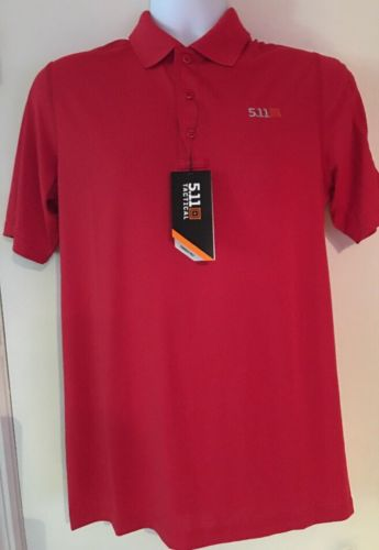 NWT 511 Tactical Series Pinnacle Polo Shirt - Range Red Sz Small 71036