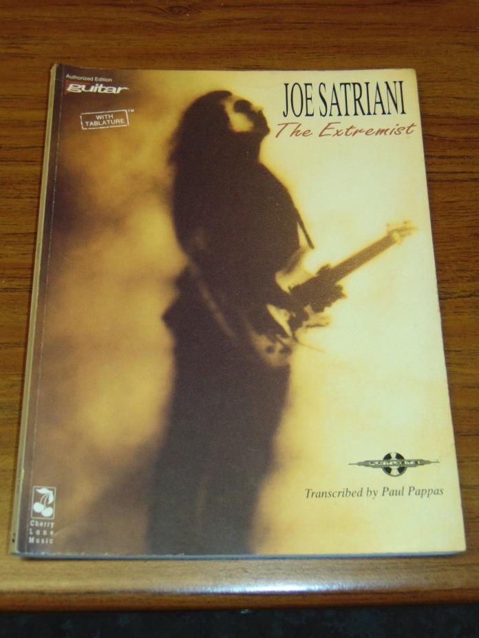 Joe Satriani The Extremist guitar tablature songbook