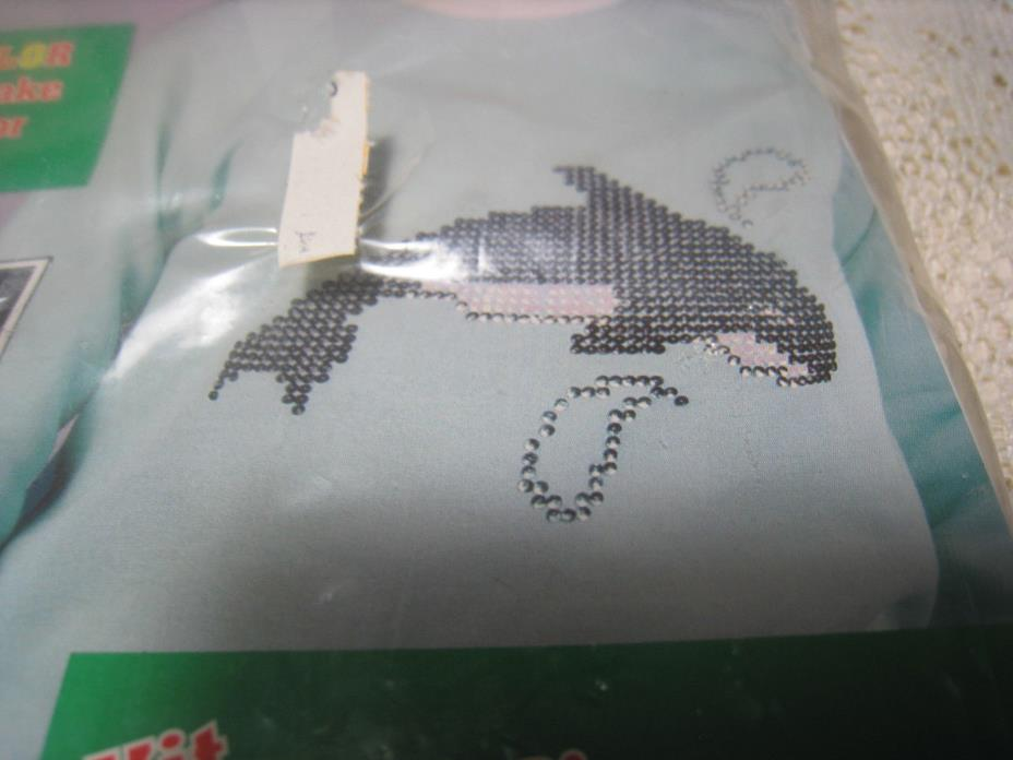 Vintage Designs N  Sequins Iron on Transfer Whale Craft