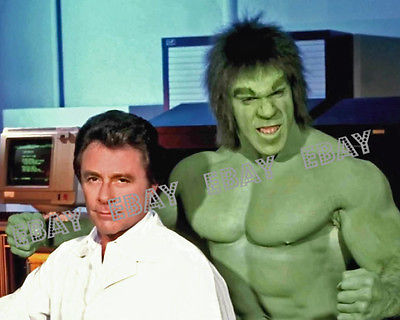 22 THE INCREDIBLE HULK TV SERIES LOU FERRIGNO BILL BIXBY PHOTO PRINT MARVEL