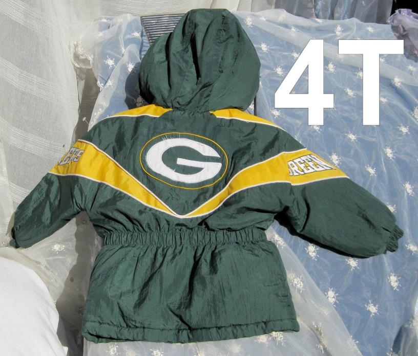 Toddler 4T Green Bay  Packer Jacket Snow Ski Winter NFL Packers Kids Coat Parka