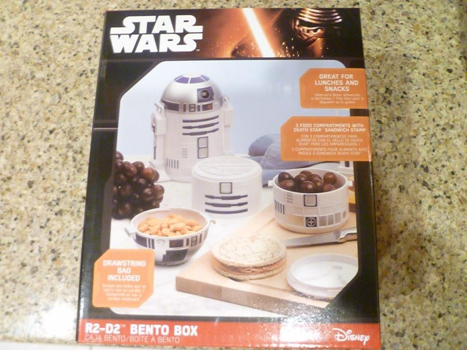 (NEW!) Star Wars R2-D2 Bento Lunch Box Snacks New Think Geek