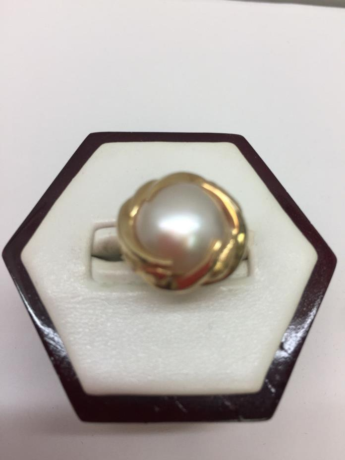 14Kt Gold Mabe Pearl Ring