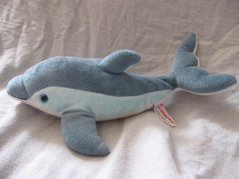 Aurora Blue Dolphin plush 13