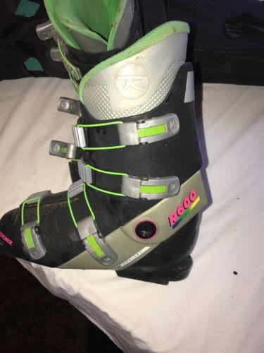 Rossignol R600 Ski Boots Black Mt Silver  Men's 9.5 vtg retro