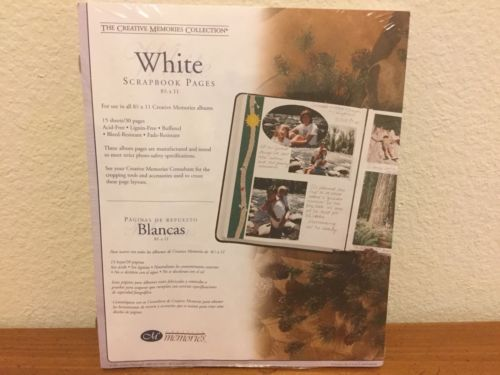 The Creative Memories Collection White Scrapbook Pages Refill 8 1/2 x 11