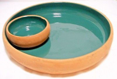 Terra Cotta Clay Chip Dip Bowl Dish