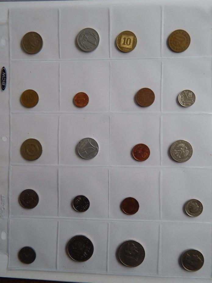 World Coin Collection of 20 Different Coins  414