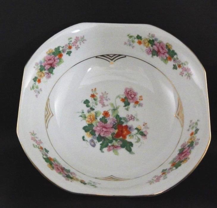 Registered Celebrate Made In Germany Porcelain Bowl -White, Floral Design 8-1/2
