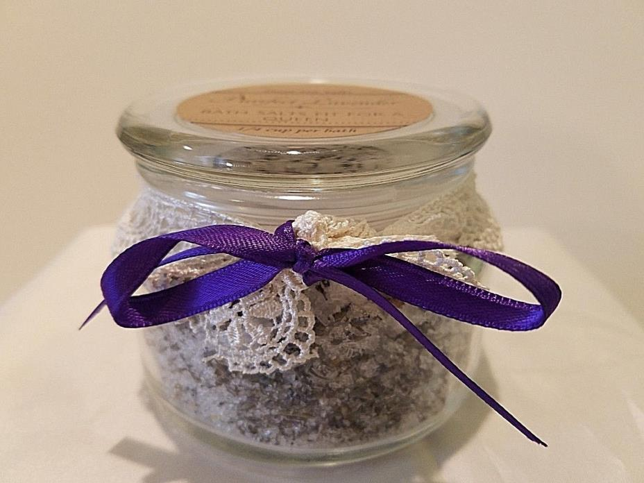 Homemade WisconisnDead Sea Salt and Epson Bath Salts with French Sachet Lavender