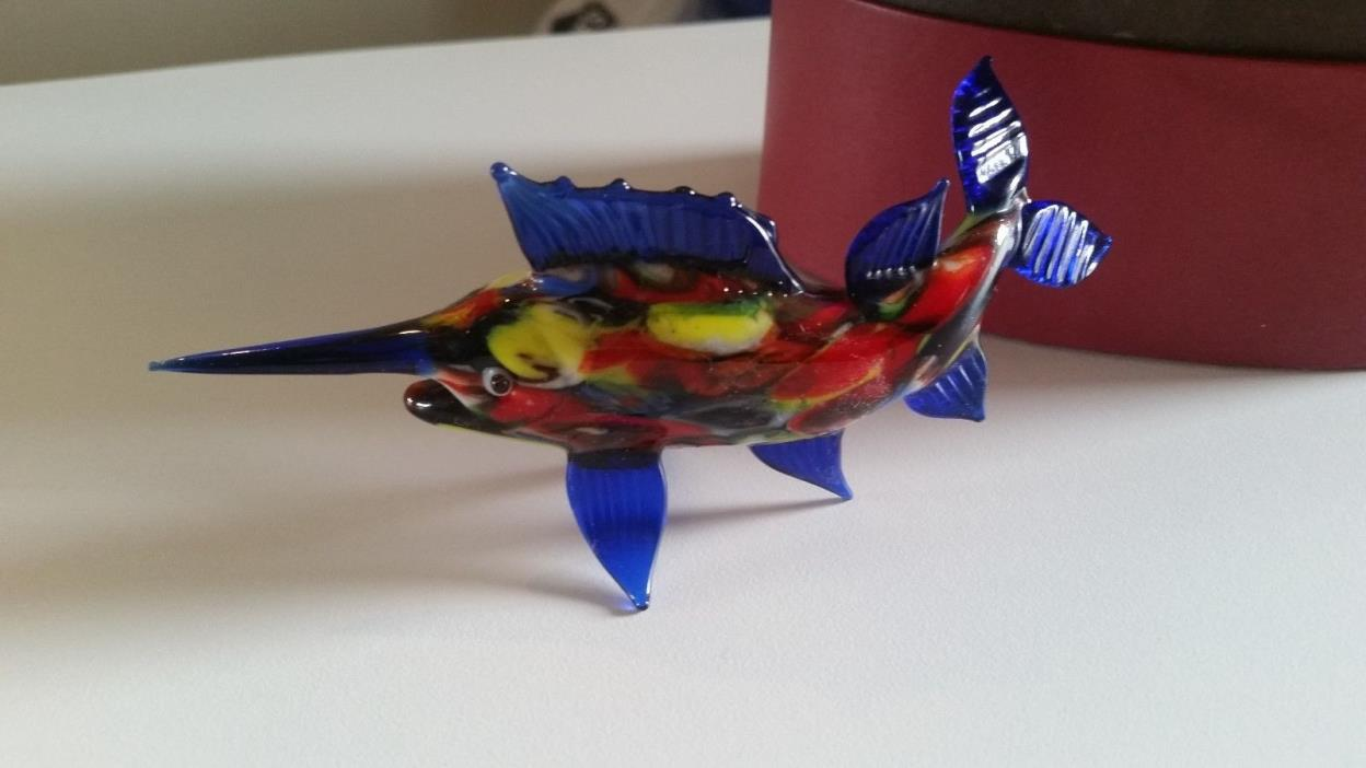Fitz and Floyd Glass Menagerie Sword Fish