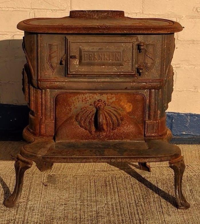 SALE! Antique Franklin Parlor Stove model 188  ~ Wood Burning Stove 1800's