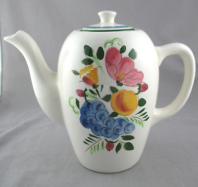 Vintage Stangl Pottery Fruit & Flowers Coffee Pot