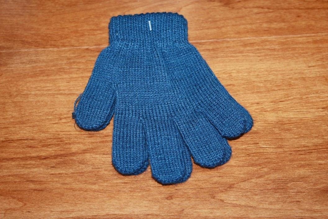 Children Stretch Gloves Blue Unisex