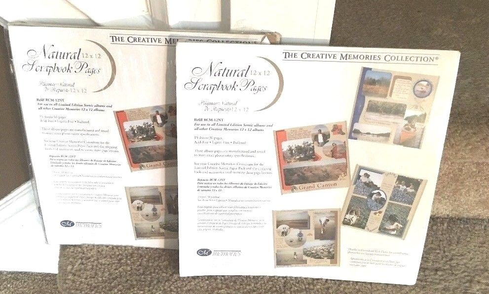 Creative Memories12 X 12 Natural Scrapbook Pages Refill 2 Packs 1 New 28 Pages