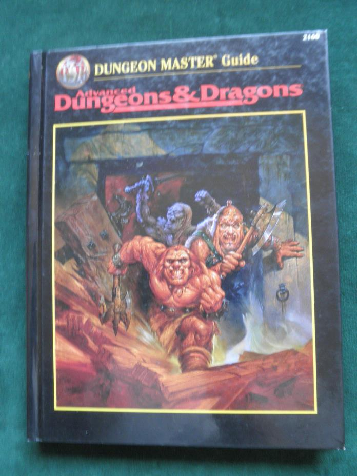 Advanced Dungeons & Dragons Dungeon Master Guide 2160 2nd Edition First Printing