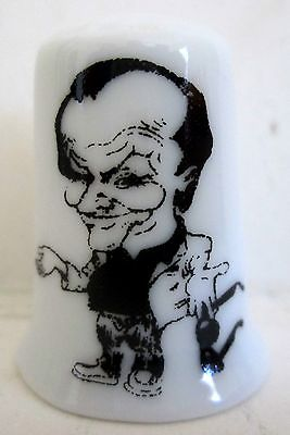 Jack Nicholson Porcelain Thimble