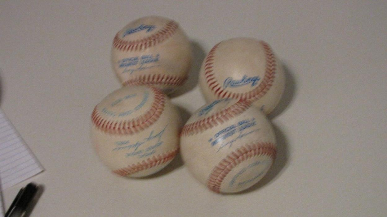 Vintage Rawlings Official Midwest League Baseball (Lot of 4)