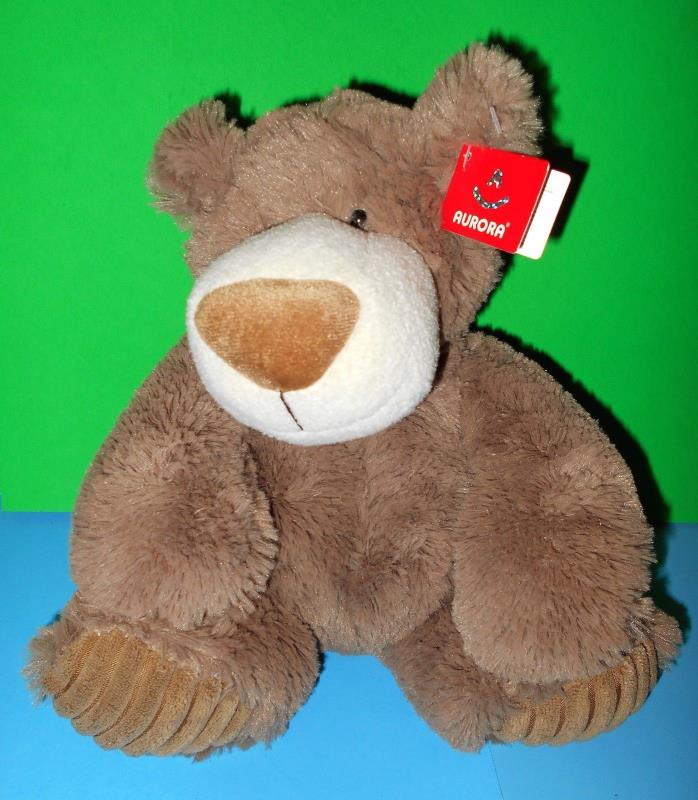 Aurora Brown Cute cuddly Mocha Teddy Bear Plush Stuffed Animal NWTs 14772 10