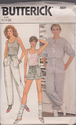 Women's  Casual  Workout Clothes Sewing Pattern Sz 8-12