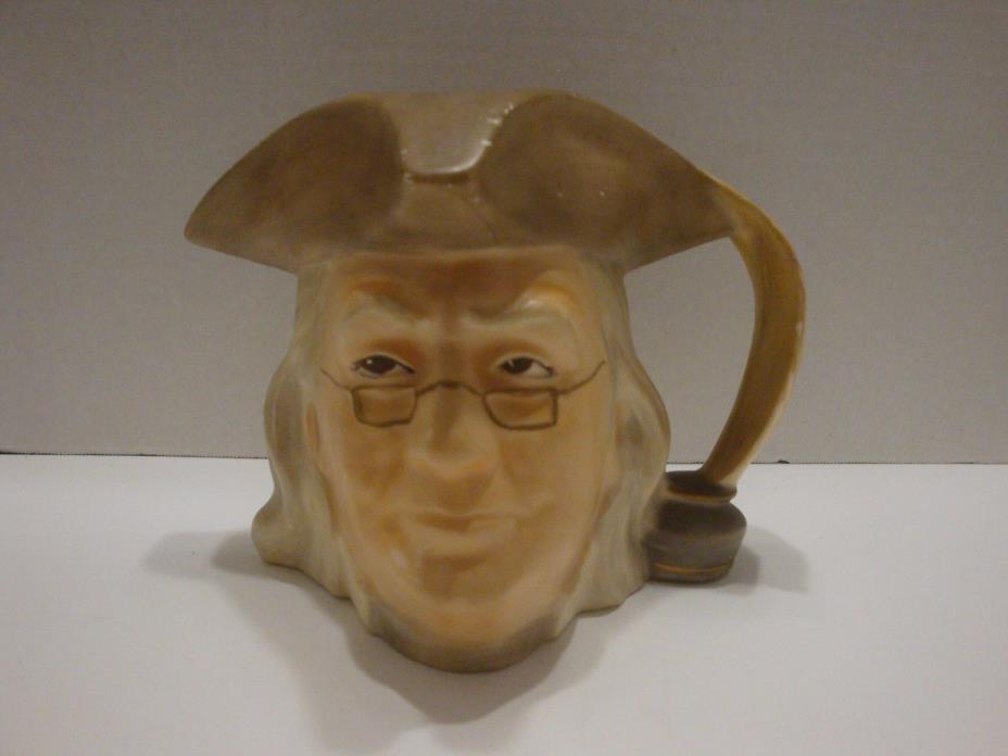 Vintage Toby Jug Mug Benjamin Franklin Marked