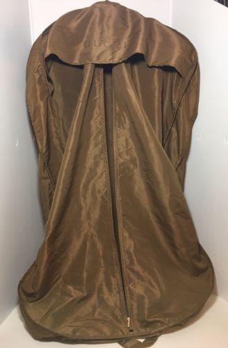 GUCCI GOLD BROWN GARMENT DRESS CLOTH  BAG