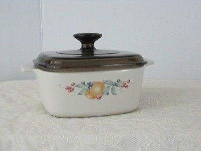 Corning Ware Vintage Amber Abundance Oven Casserole Dish 1.5 Liter W/Lid