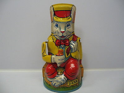 CHEIN TIN LITHO UNCLE WIGGILY MECHANICAL BANK RARE FIND LOOKS AND WORKS GREAT
