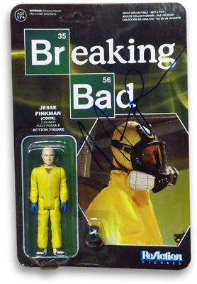 Aaron Paul Signed Autographed Action Figure Breaking Bad Jessie Pinkman GV862958