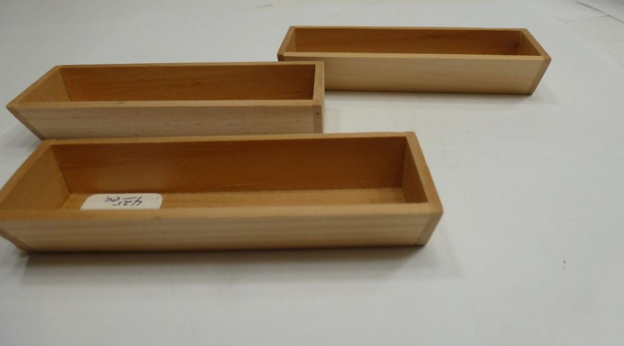 3 Wooden Dollhouse Window Boxes