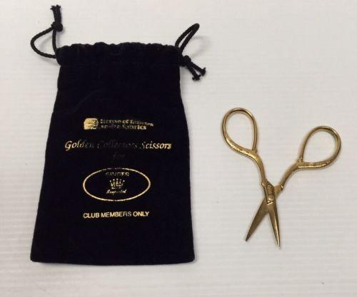 Singer Golden Collectors Scissors 3 3/4