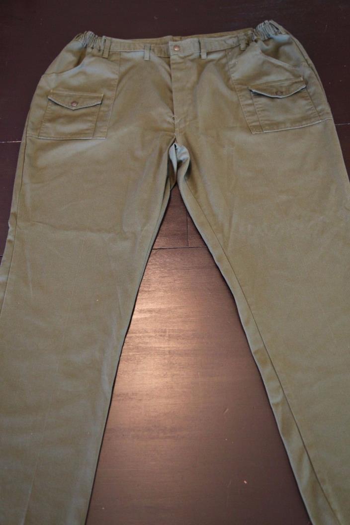 BSA Boy Scout Official Uniform Pants Vintage Adult Mens Size 48 40 x 34 Green