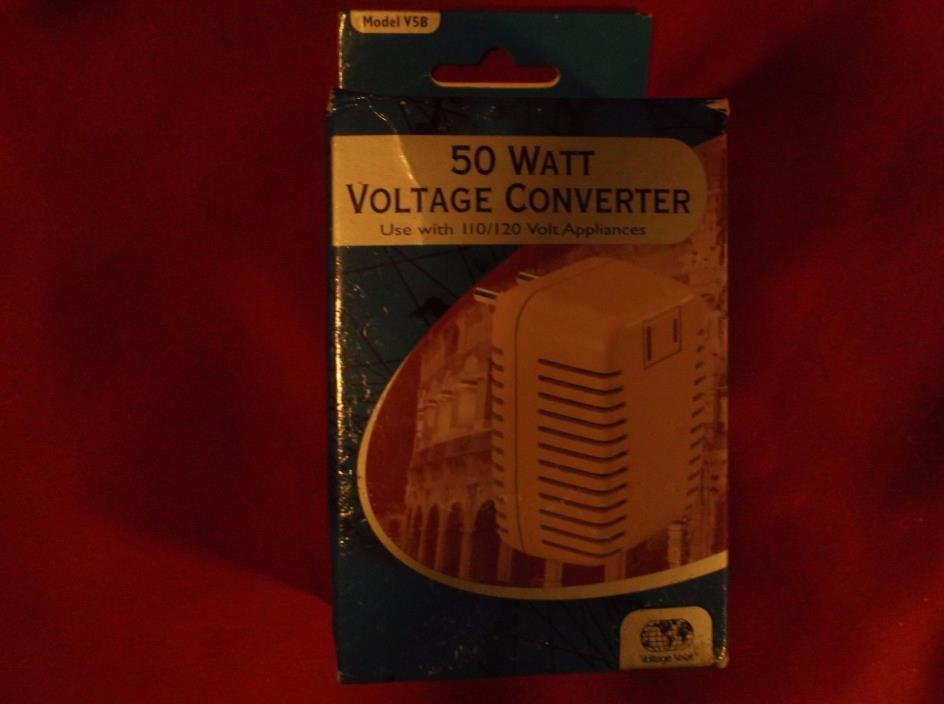 50 Watt Voltage Converter 110/120 Volt Model V5B Voltage Valet *NEW*