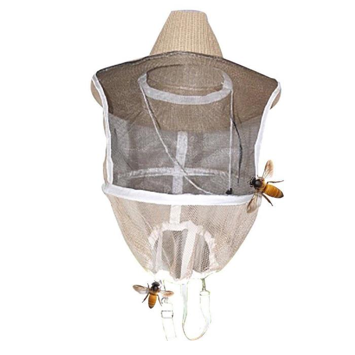 Beekeeping Veil Hat Mosquito Bee Insect Net Veil Head Face Protector